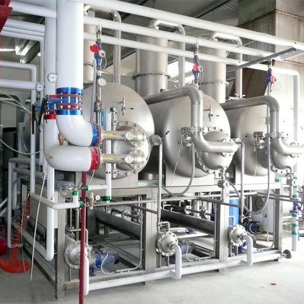 Evaporatore sottovuoto acqua calda o vapore